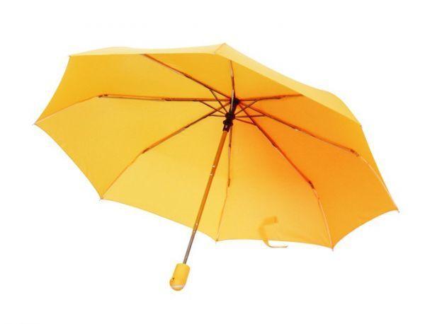 Зонт-складной, желтый
