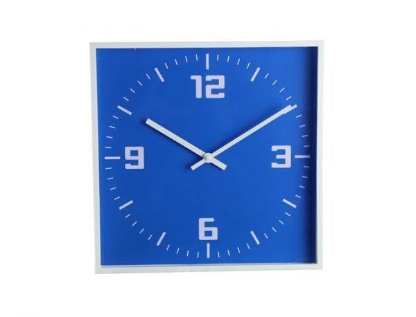 Настенные часы, белые с синим