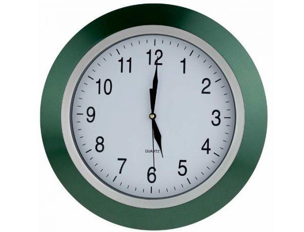 Настенные часы, часы настенные зеленый ободок