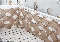 Бортики,простынь,подушка,одеяло