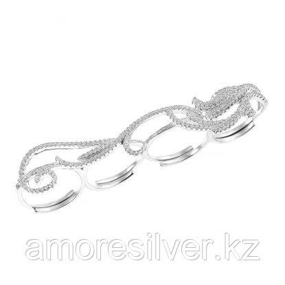 Кольцо TEOSA серебро с родием, фианит, геометрия MKRCTWR24046-R