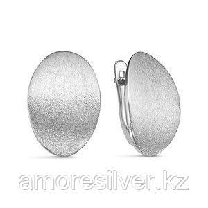 Серьги Delta серебро с родием, без вставок, круг с221817