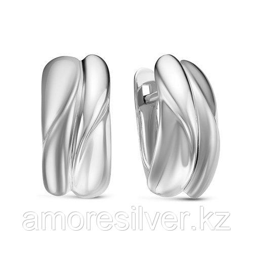 Серьги Delta серебро с родием, без вставок, геометрия с222250