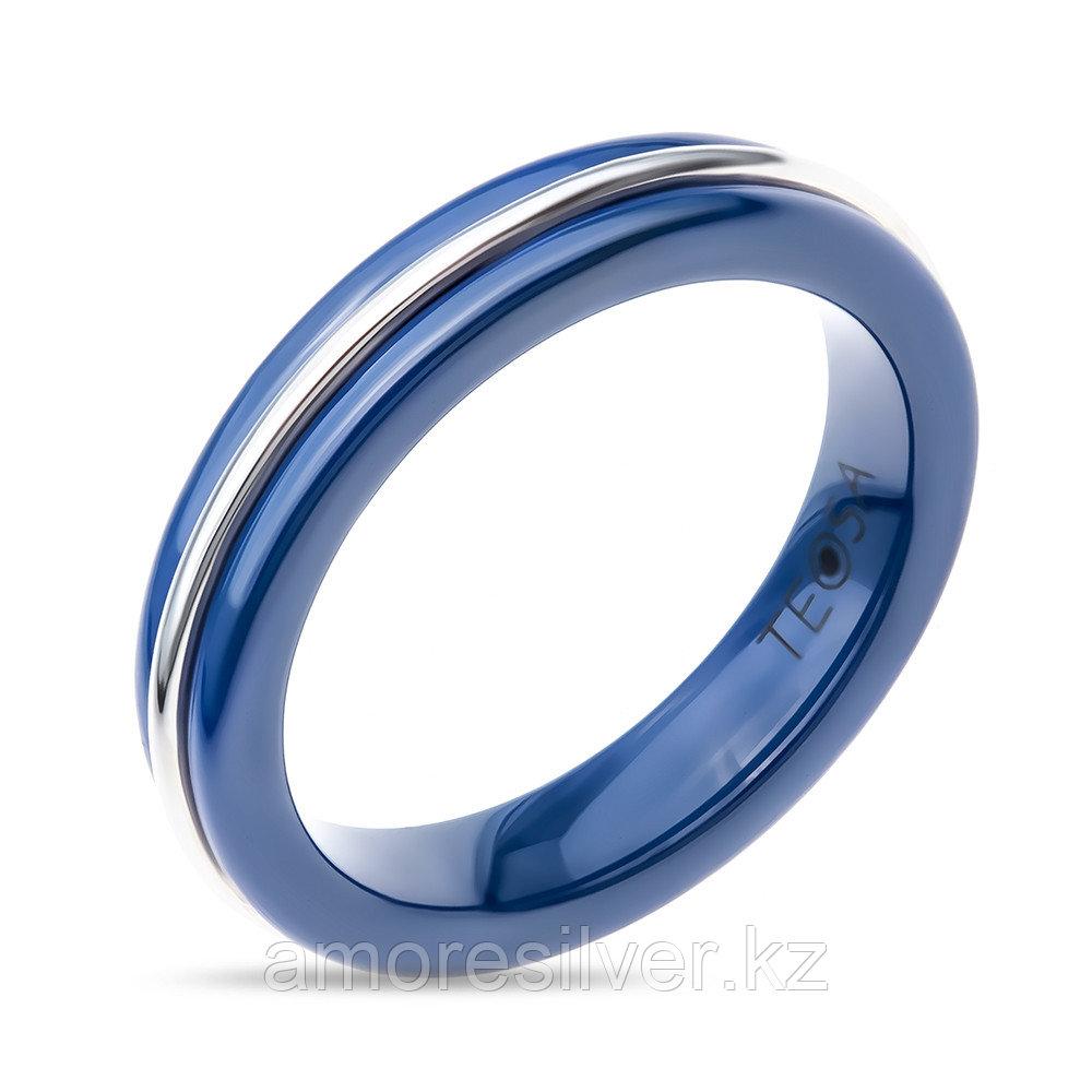 "Кольцо TEOSA серебро с родием, керамика, ""линии"" CS-1166A-BL"
