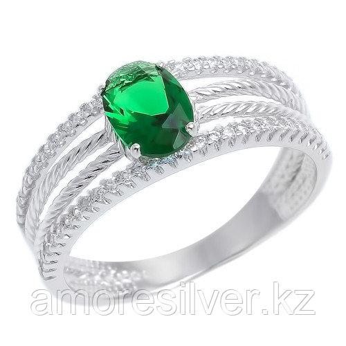 "Кольцо TEOSA серебро с родием, стекло фианит, ""halo"" 53715197Р"