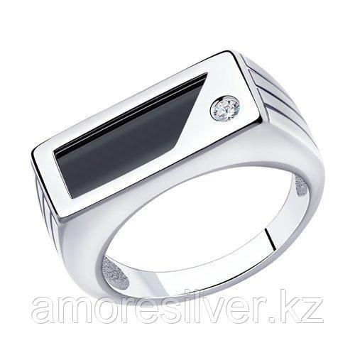 Кольцо мужчинам Diamant (SOKOLOV) серебро с родием, наношпинель  фианит  94-112-00562-1
