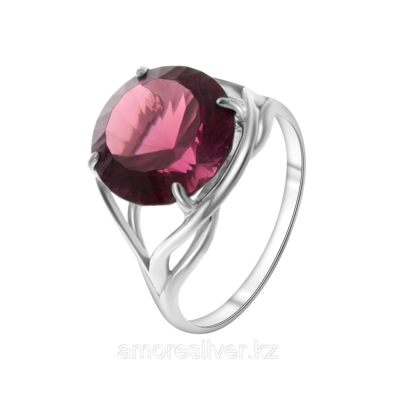 "Кольцо Алмаз-Групп серебро с родием, родолит, ""каратник"" 11290024"