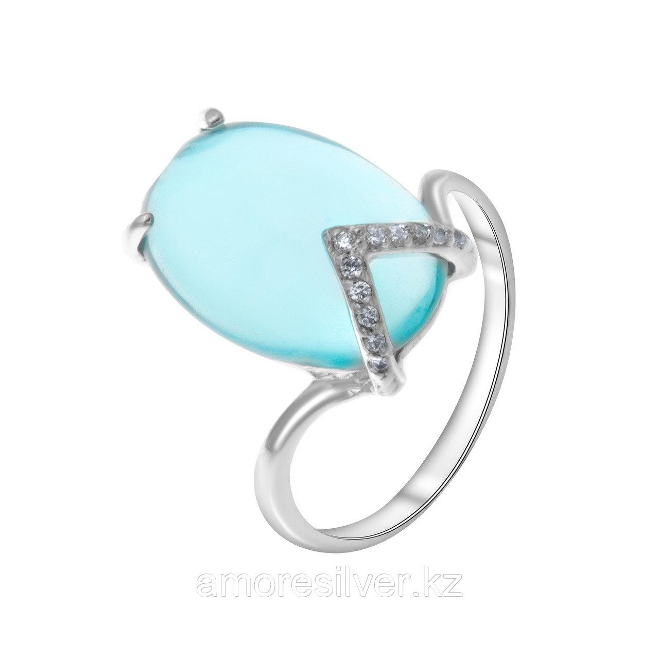 """Кольцо Алмаз-Групп серебро с родием, кварц, """"каратник"""" 11310076"""