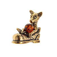 Серьги Амулет серебро без покрытия, янтарь 7.185