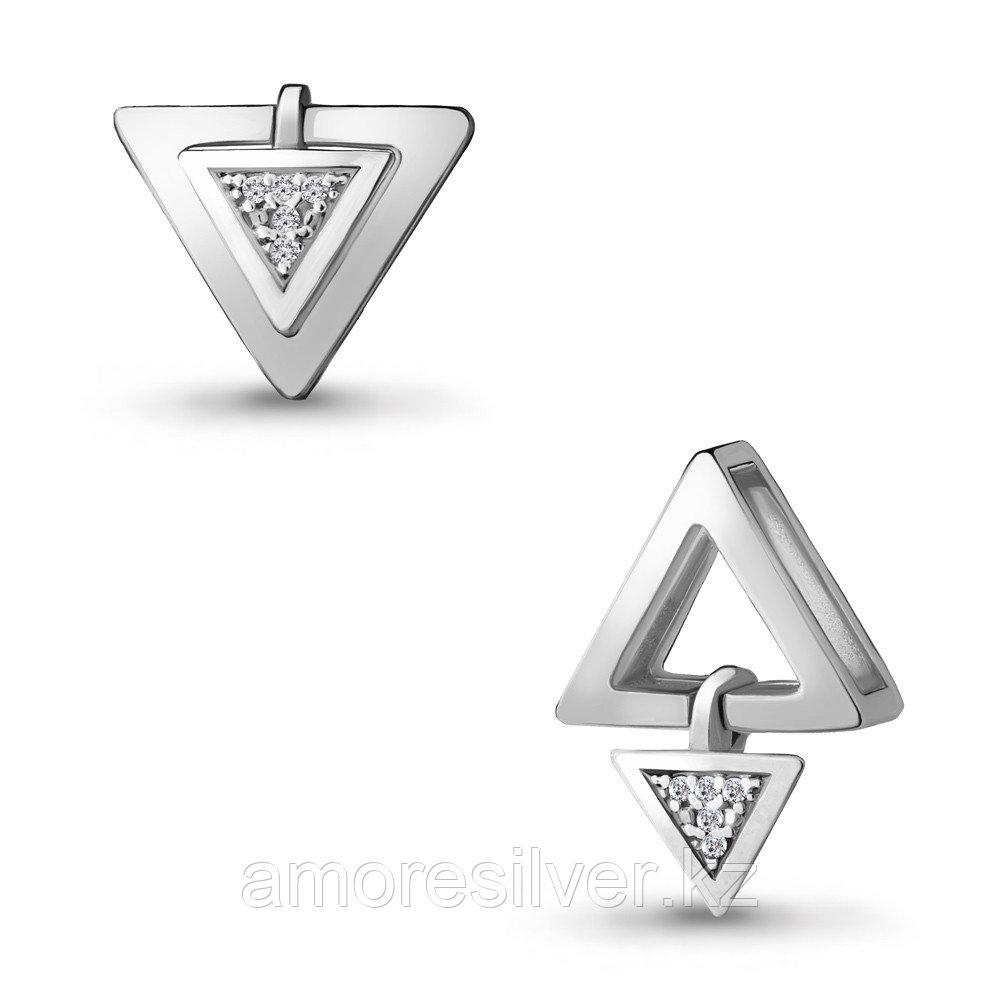 Подвеска AQUAMARINE серебро с родием, фианит, геометрия 24245А