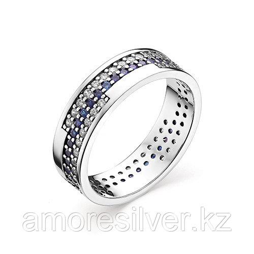 Кольцо Алькор серебро с родием, фианит, дорожка 01-0876/0КЦ3-00