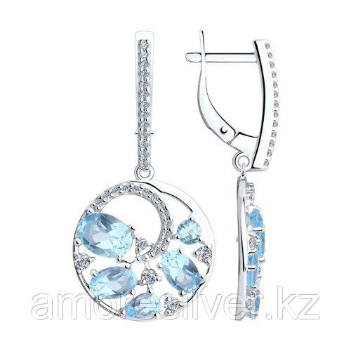 Серьги Diamant (SOKOLOV) , топаз фианит  94-321-00472-1