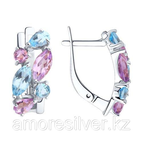 Серьги Diamant (SOKOLOV) , топаз аметист 94-320-00430-1