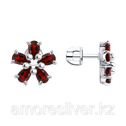 Серьги Diamant (SOKOLOV) , гранат 94-320-00347-1