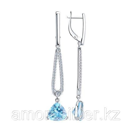 Серьги Diamant (SOKOLOV) , топаз фианит  94-321-00652-1