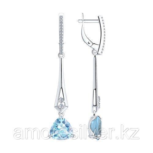 Серьги Diamant (SOKOLOV) , топаз фианит  94-321-00554-1