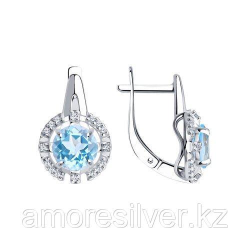 Серьги Diamant (SOKOLOV) , топаз фианит  94-320-00679-1