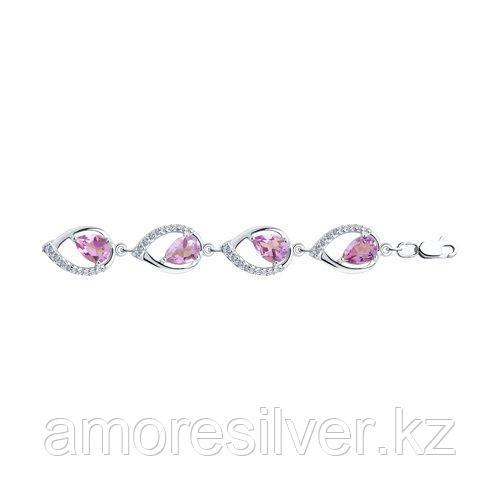 Браслет Diamant (SOKOLOV) , аметист фианит  94-350-00557-3