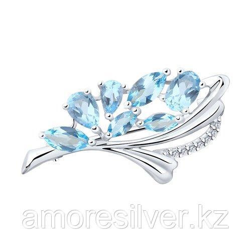 Брошь Diamant (SOKOLOV) , топаз фианит  94-340-00528-1