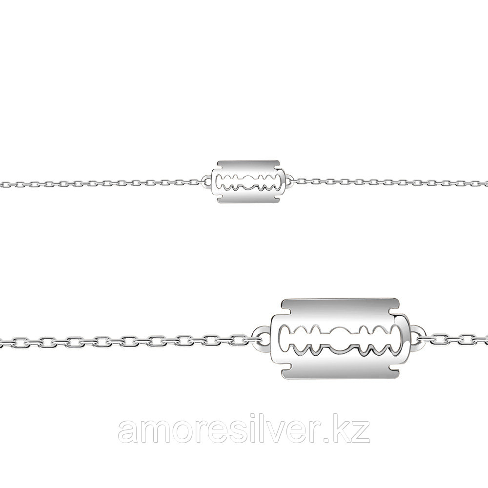 AQUAMARINE серебро с родием, фианит, символы 74508.5