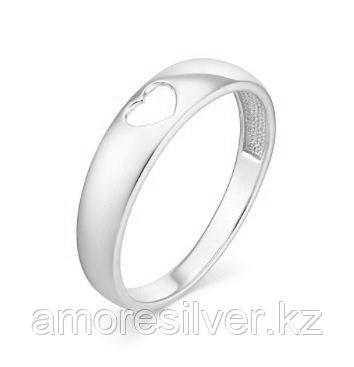 Кольцо Ювелирный завод Вероника серебро с родием, без вставок, love К600-988