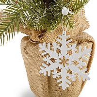 Комплект снежинок из дерева 12 штук