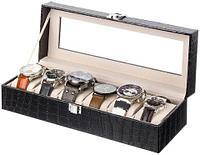 Шкатулка в кожаном переплете для хранения наручных часов Banda-C1006 (Черный)