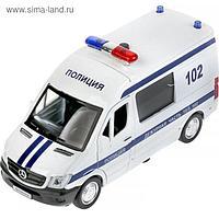 Машина металлическая «Mercedes-benz sprinter полиция» 14 см, инерция, свет-звук