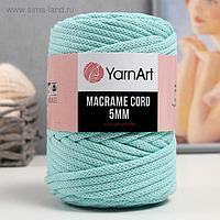 "Пряжа ""Macrame Cord"" 60% хлопок, 40% вискоза/полиэстер 5 мм 85м/500гр (775 айсберг)"
