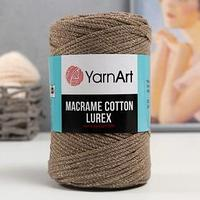 Пряжа 'Macrame cotton lurex' 75хлопок, 13полиэст., 12металлик 205м/250гр (735)