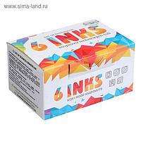 Набор цветной туши Koh-I-Noor, 6 цветов в тубах по 20 мл, картонная упаковка
