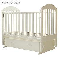 Кроватка детская «Дарина-6», маятник, ящик, размер 120 х 60 см, слоновая кость