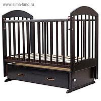 Кроватка детская «Дарина-6», маятник, ящик, размер 120 х 60 см, венге