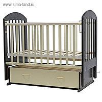 Кроватка детская «Дарина-6», маятник, ящик, размер 119 х 60 см, венге/слоновая кость