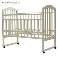 Кроватка детская «Лира-2», качалка, размер 120 х 60 см, слоновая кость
