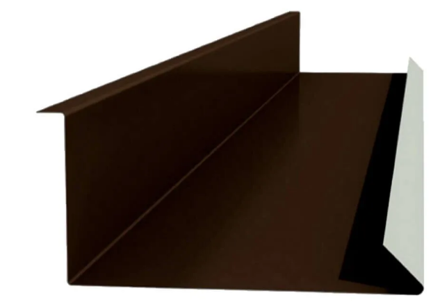 Планка примыкания нижняя 250х122х2000 мм Глянец Коричневый RAL 8017