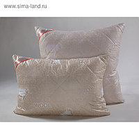 Подушка стёганная 70х70 см, шерсть мериноса, ткань глосс-сатин, п/э 100%