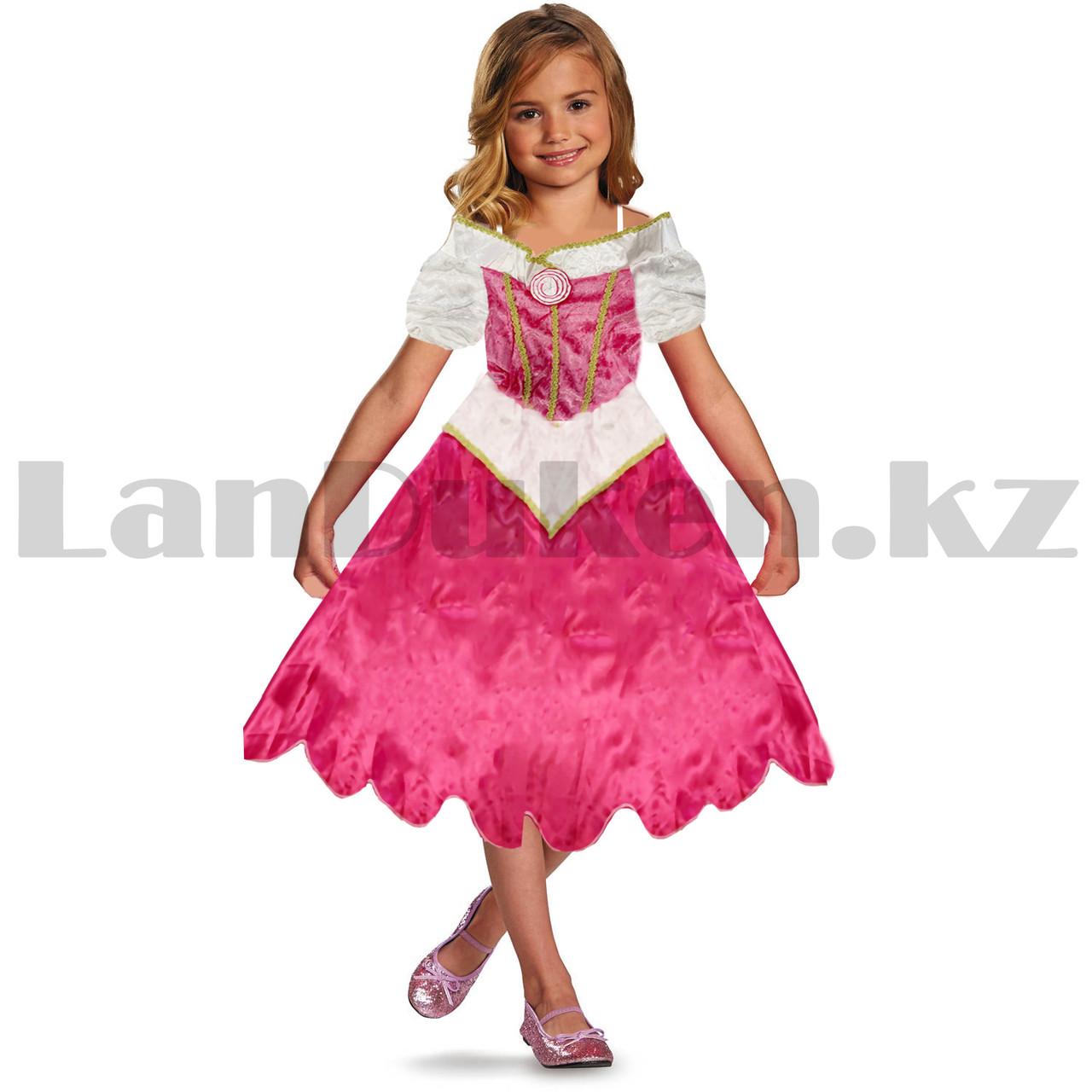 Костюм детский карнавальный Спящая Красавица Аврора принцесса для девочек розовое XF-6935 - фото 2