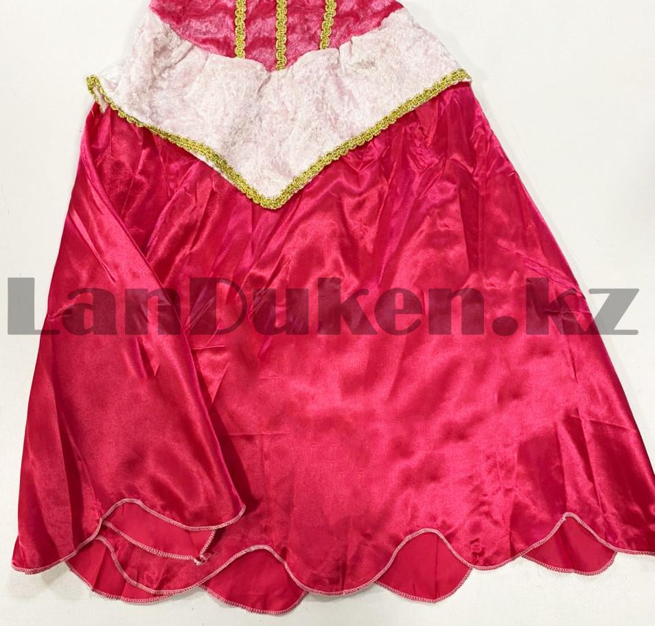 Костюм детский карнавальный Спящая Красавица Аврора принцесса для девочек розовое XF-6935 - фото 5