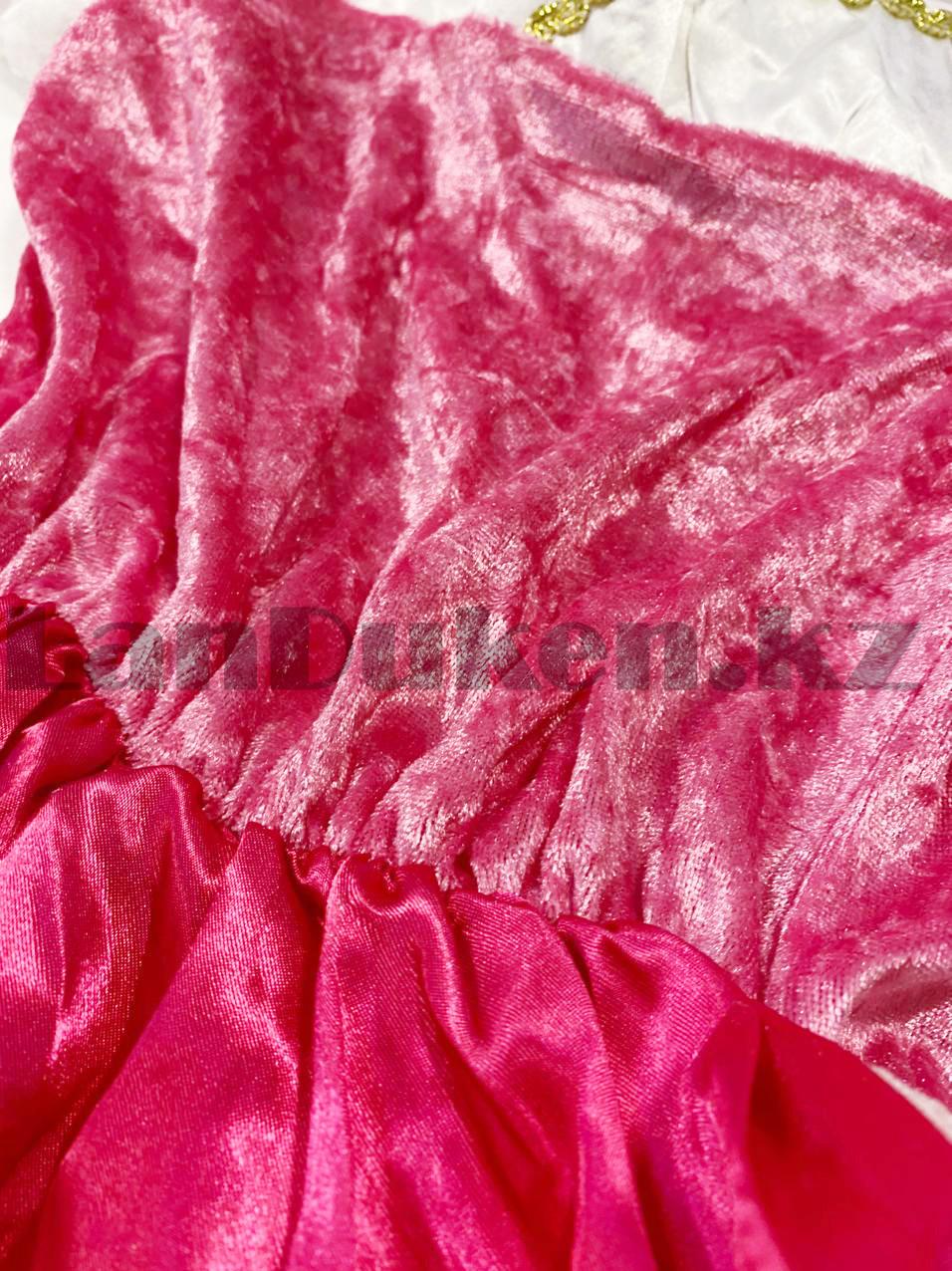 Костюм детский карнавальный Спящая Красавица Аврора принцесса для девочек розовое XF-6935 - фото 10