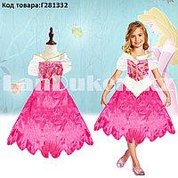 Костюм детский карнавальный Спящая Красавица Аврора принцесса для девочек розовое XF-6935