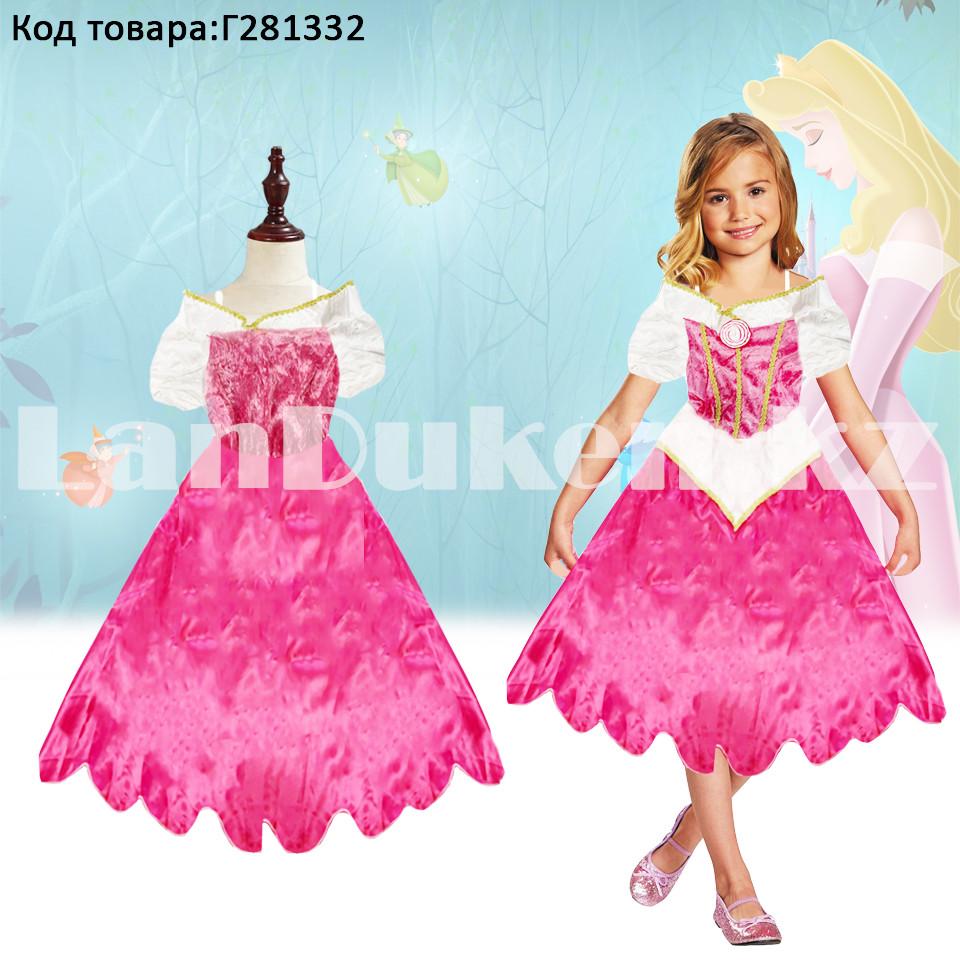 Костюм детский карнавальный Спящая Красавица Аврора принцесса для девочек розовое XF-6935 - фото 1