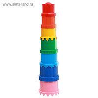 Наборы для игры в песке пирамидка №71, цвета МИКС