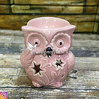 Аромалампа с декором. Материал: Керамика. Цвет: Розовый.