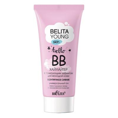 БЕЛИТА BELITA YOUNG SKIN ВВ-хайлайтер с тонирующим эффектом д/молодой кожи «Безупречное сияние»