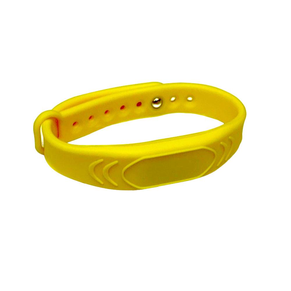 Силиконовый браслет Mifare SC-Yellow, с застежкой, желтый