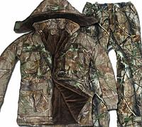 Теплый водонепроницаемый камуфляжный костюм для охоты
