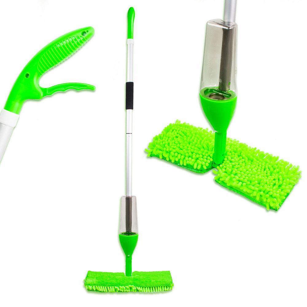 Уценка! Швабра с распылителем и насадкой для мытья окон