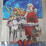 Пакет подарочный бумажный Новогодний Дед Мороз 32*26*10 см, фото 3
