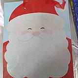 Пакет подарочный бумажный Новогодний Дед Мороз 32*26*10 см, фото 2